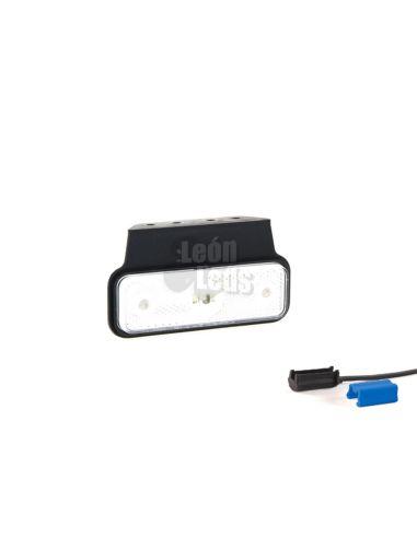 Piloto Lateral y Galibo LED Fristom FT004 K con Conector reflectante ambar balnco o naranja rectangular | LeonLeds