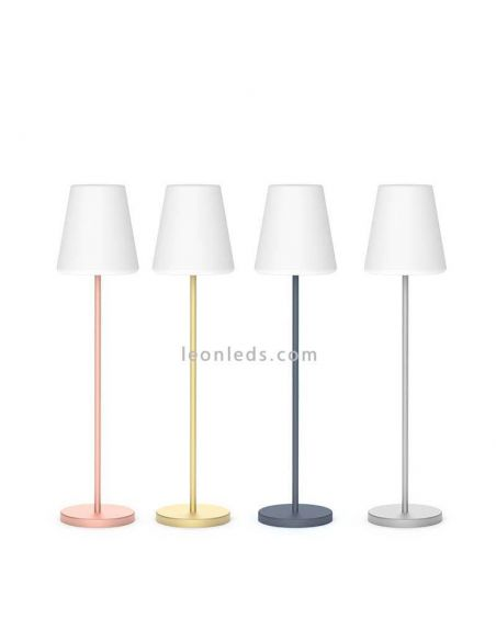 Lámpara de pie LED solar para exterior 120Cm Lola Slim | Lámpara de PVC bateria | LeonLeds Iluminación