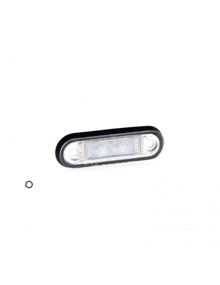 Piloto de posición o Galibo LED transparente con soporte o sin soporte 12V 24V Fristom FT-015 K LED | LeonLeds Iluminación