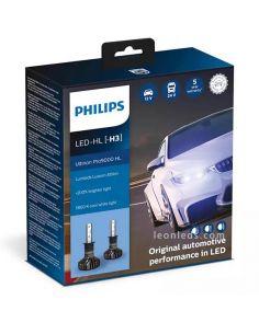 Pack Bombillas H3 LED X-treme Ultinon PRO9000 12/24V HL Pack 2 Unidades 11336U90CWX2 Philips | LeonLeds
