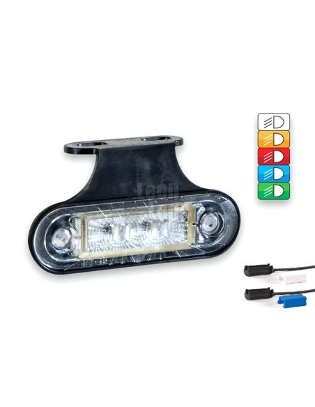 Luces Pilotos Laterales y Galibo LED con o sin soporte con conector Fristom FT015 12V 24V   LeonLeds