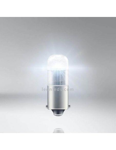 Luz Bombilla LED T4W BA9s 12V 6000K (2Uds) LEDriving   3893DWP-02B | LeonLeds.com