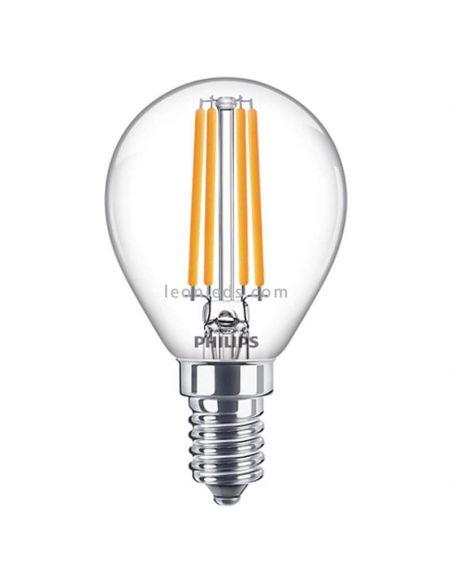 Bombilla E14 P45 de filamento LED 6.5W - 60W 8718699762292 |  LeonLeds