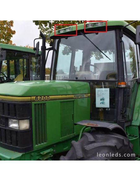 Tractor Jonh Deere Faro LED Empotrable Jonh Deere Serie 00 y 10 60w 3500Lm  la1002 Agropar | LeonLeds