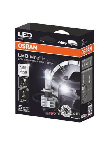 Bombillas LED H7 12V 24V LedDriving Generación 2 Pack 2 Bombillas H7 Osram   LeonLeds
