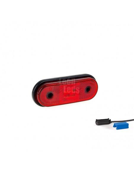 Piloto de posición Blanco ambar rojo Reflectante LED Galibo con o sin soporte con conector QS075 QS150 | LeonLeds