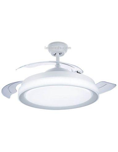Ventilador de techo LED retractíl con mando a distancia Bliss Blanco Philips | LeonLeds