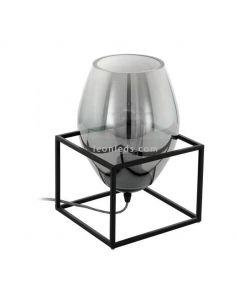 Lámpara de sobremesa de vidrio Olival 1XE27 de Eglo| LeonLeds Iluminación