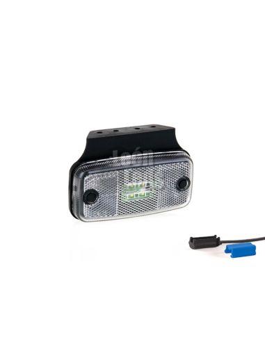 Pilotos LED Cuadrado con soporte o sin soporte de posición o galibo para el lateral parte delantera o trasera   LeonLeds Ilumina