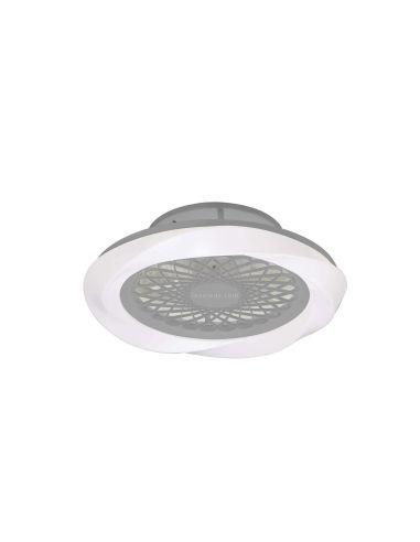 Ventilador de techo LED Boreal Plateado 70W LED 35W Ventilador Mantra | LeonLeds Iluminación