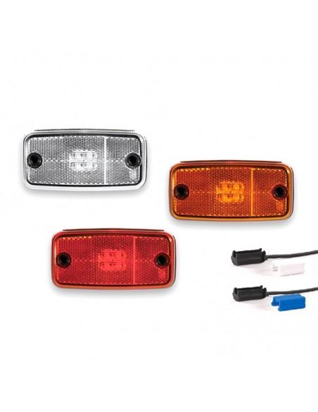 Pilotos LED Cuadrado con soporte o sin soporte de posición o galibo para el lateral parte delantera o trasera | LeonLeds Ilumina