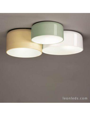 Plafón de techo blanco, oliva y beige Pot Ole By FM Iluminación   LeonLeds