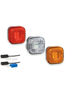 Piloto Lateral y Galibo LED Reflectante Ambar Blanco y Rojo con conector Fristom FT-027 FT027 | LeonLeds