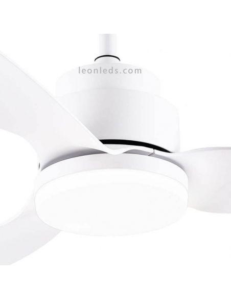 Detalle Ventilador de Techo LED con Wifi Google Home y Alexa Woka Wifi Blanco Sulion   LeonLeds