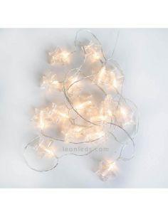 Pack de 6 Guirnaldas LED de estrellas Bianca New Garden | LeonLeds Iluminación