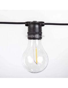 Pack 3 Guirnaldas Allegra negra con cable 2700k o RGB New Garden | LeonLeds Iluminación