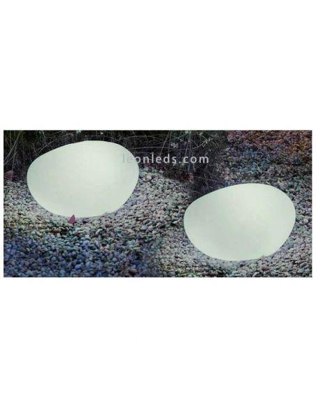 Lámpara decorativa exterior con cable Petra 40Cm IP65 polietileno New Garden | LeónLeds Iluminación