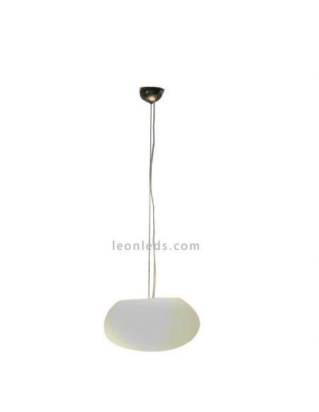 Lámpara colgante exterior ovalada Petra 40Cm New Garden | LeónLeds Iluminación