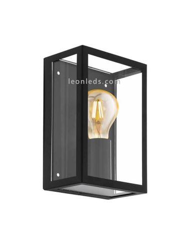 Aplique de pared acero y vidrio E27 Alamonte Eglo Iluminación | LeónLeds Iluminación