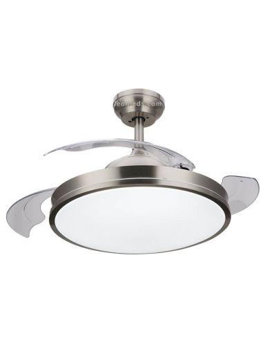 Ventilador de techo LED con aspas Abatibles y transparentes Nickel Bliss 8719514334502 Philips | LeonLeds