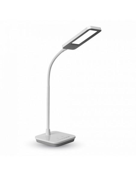 Flexo LED con Intensidad regulable Vtac 7034 Gris y Blanco para estudio oficina o mesa de lectura | LeonLeds