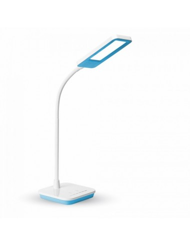Flexo LED Azul 7043 V-tac Dimmable Regulable Luz Natural 7W Flexible oficina mesa de estudio lectura | LeonLeds