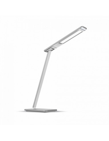 Flexo de mesa LED 10W -Blanco- 3 Tonos de luz Blanco y Gris Flexo de Estudio Flexos para estudiar regulables Dimmable | LeonLeds