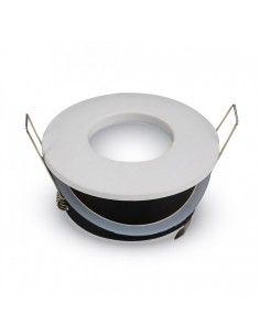 Aro Empotrable Estanco Blanco o Satinado para Bombilla LED Gu10/Mr16 | LeonLeds