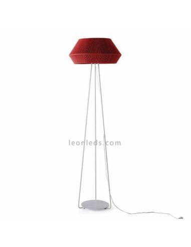 Lámpara de pie Banyo cuerda personalizable trípode blanco 1xE27 | LeónLeds Iluminación | Lámpara de cuerda