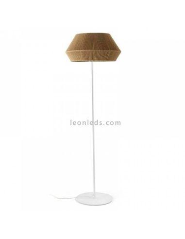 Lámpara de pie Banyo cuerda personalizable pie blanco 1xE27   LeónLeds Iluminación   Lámpara para salón