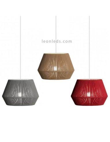 Lámpara de techo Banyo de cuerda personalizable 30cm 1xE27   LeónLeds Iluminación   lámpara pequeña colgante colores