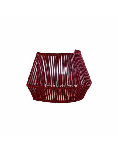 Aplique de pared cuerda personalizable Banyo 1xE27 | LeónLeds Iluminación | Lámpara pared granate