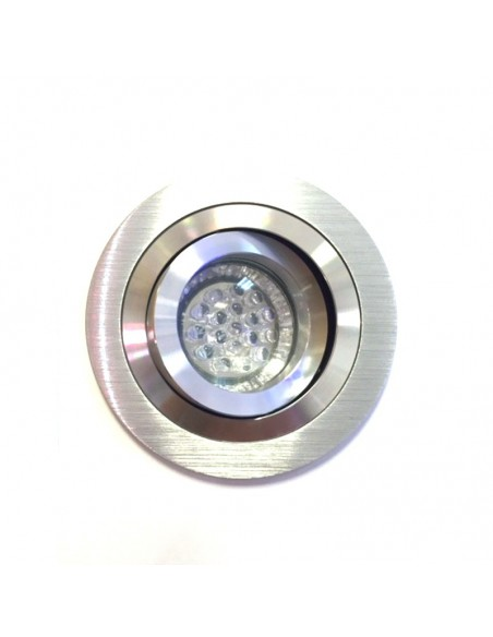 Aro Empotrable BPM 3010 Aluminio Plata Bombilla LED Dicroica GU10 MR16 Mini Catli | LeonLeds.com