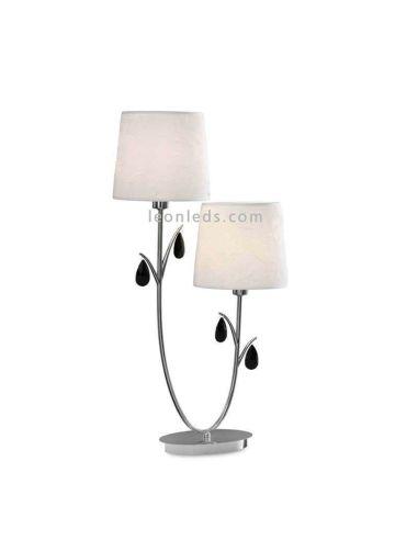 Lámpara de Sobremesa serie Andrea cromada Mantra | LeonLeds Iluminación