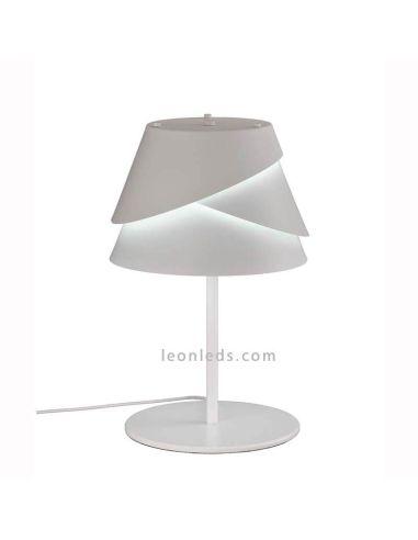 Lámpara de Sobremesa Alborán Blanca 1XW27 | LeonLeds Iluminación