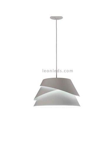 Lámpara Colgante Blanca Alborán Mediana 1XE27 Mantra Iluminación | LeonLeds Iluminación