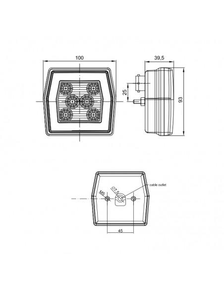 Piloto Antiniebla LED 2 Funciones -Redondo-