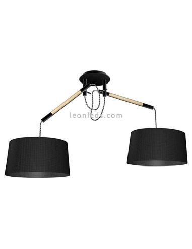 Lámpara de Techo de estilo nordico serie nordica color negro Mantra   LeonLeds Iluminación