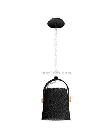 Lámpara de techo colgante regulable en altura de la serie nordica color negro | LeonLeds Iluminación
