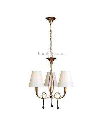 Lámpara de Techo Araña Dorada de estilo clásico serie Paola de Mantra   LeonLeds