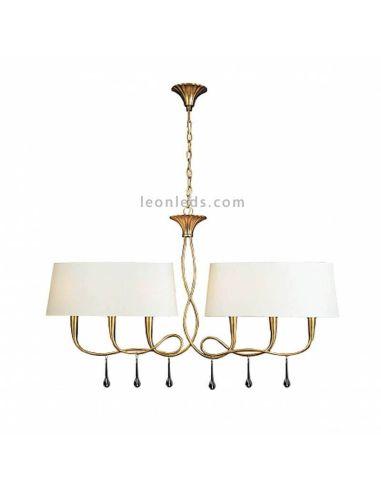 Lámpara de techo Paola alargada Mantra Iluminación | LeonLeds Iluminación