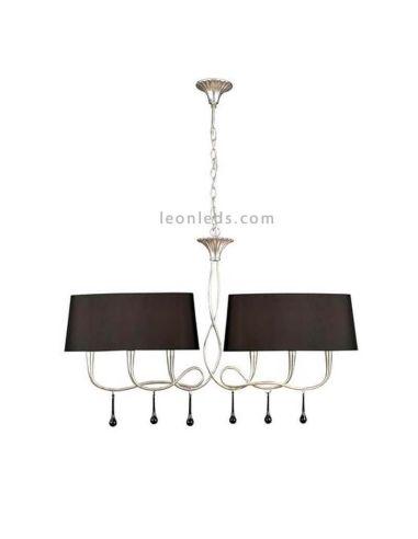 Lámpara de Techo Plateada Clásica serie Paola de Mantra Iluminación   LeonLeds Iluminación