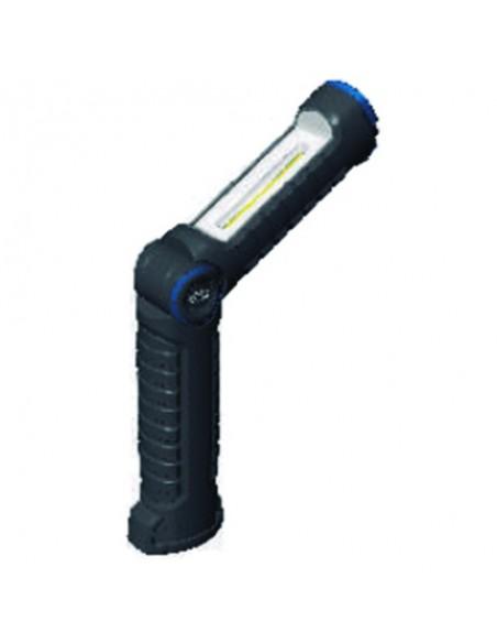 Linterna Led Recargable 3W + 3W  Magnética Garras UV LCD indicador de carga Giratoria | LeonLeds