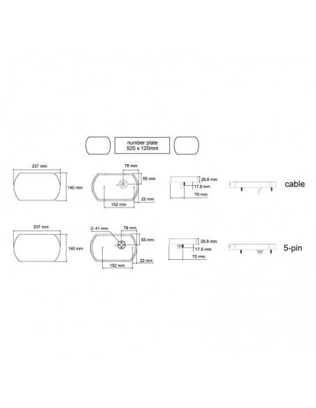 Piloto Trasero LED con Triángulo 12/24V Homologado Lucidity 26017 | LeonLeds Iluminación