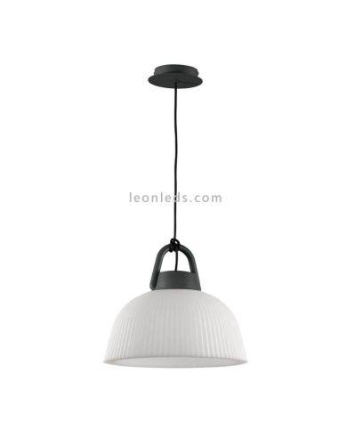 Lámpara de techo Exterior Blanca y Gris Antracita Kinké Mantra Iluminación | LeonLeds.com