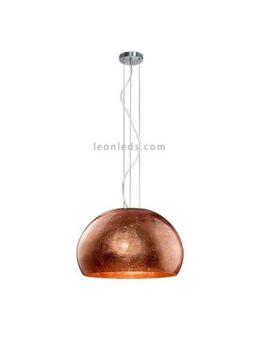 Lámpara de Techo Cobre regulable en altura de cristal Trio Lighting   LeonLeds Iluminación