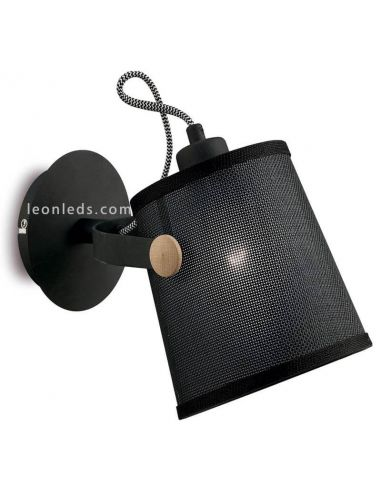 Aplique de Pared color Negra serie Nordico marca Mantra Iluminación Leonleds Iluminación