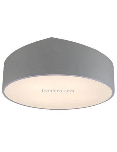 Plafón de techo forma redondo color plateado | Plafón redondo grande Plateado | LeonLeds Iluminación