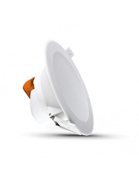 Downlight de LED 7W para sustituir Halogenos con aro de color blanco modelo Basik de Leds Factory | LeonLeds Iluminación