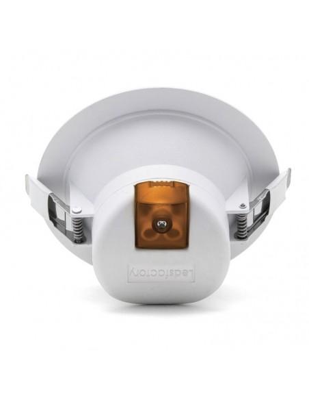 Downlight LED redondo de 20W basik de leds factory blanco mate para empotrar en techo de calidad  | LeonLeds